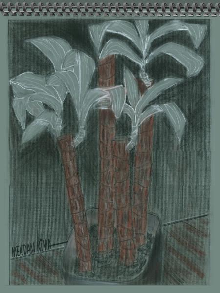 Oil Painting On Canvas - Crayon Still Life
